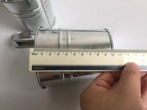 Image 5 - 10 unids/lote D9.5XH18CM balde colgante maceta de balcón de hierro maceta para jardín de infantes decoración de Metal para guardería