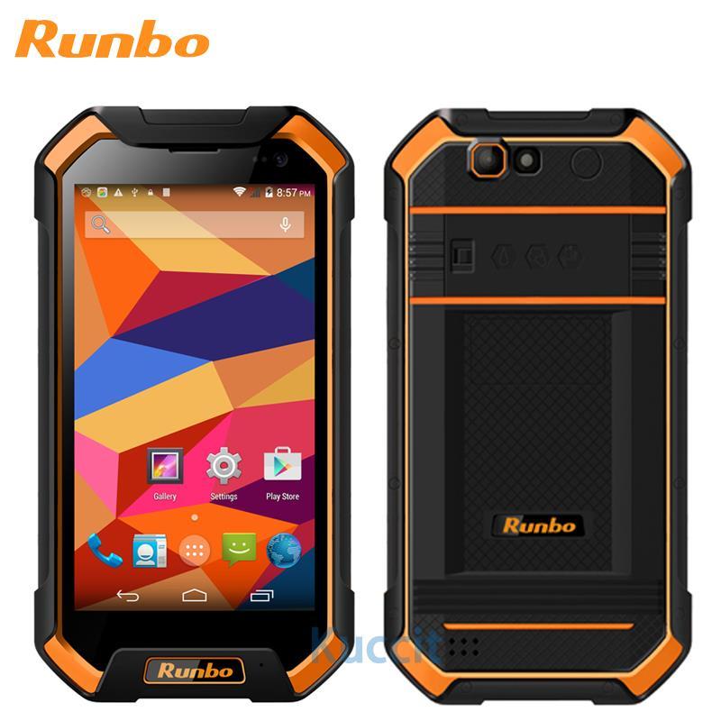 Mise à niveau d'origine Runbo F1 étanche téléphone antichoc MTK6735 Quad Core 3 GB RAM robuste Android 6.0 Smartphone IP67 4G LTE GPS