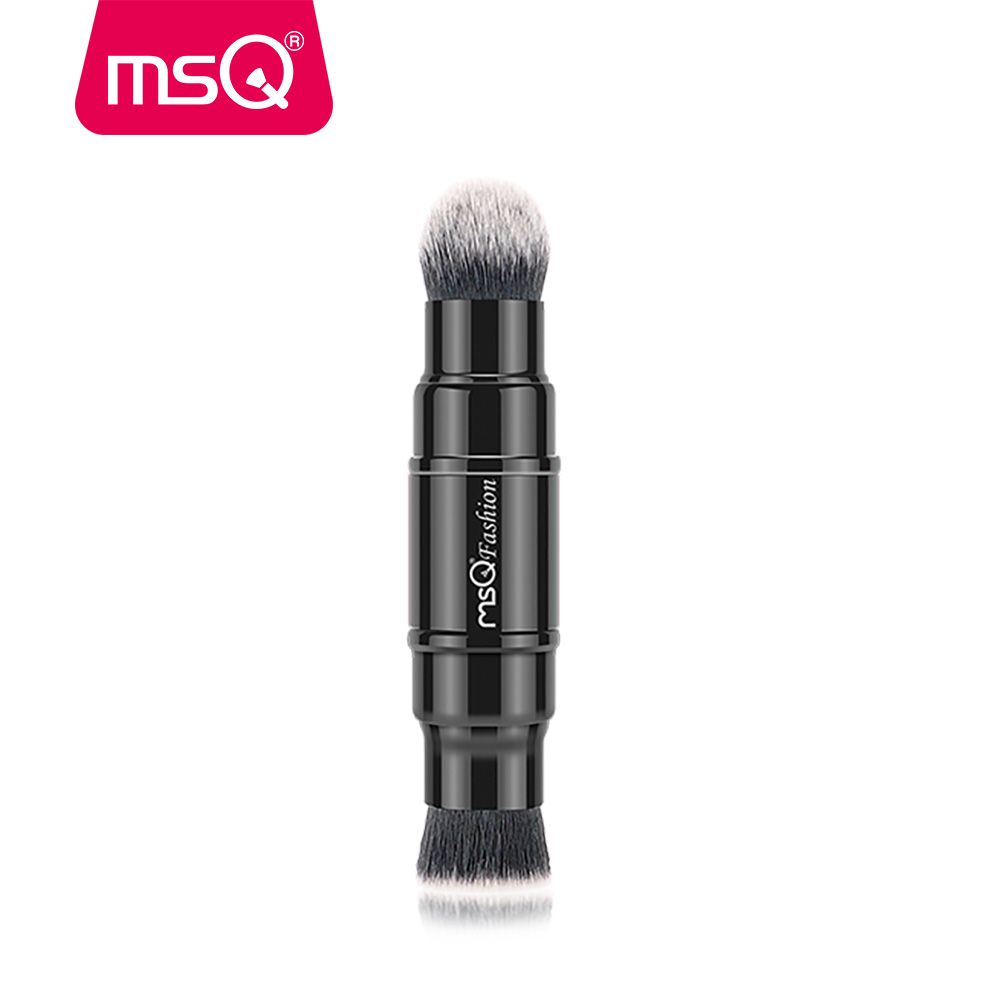 MSQ Portable Retractable Blusher Makeup Brush Retractable Pro Foundation Cosmetic Blusher Face Powder Brushes Beauty Tools retractable cosmetic makeup powder multifunction brush claret red