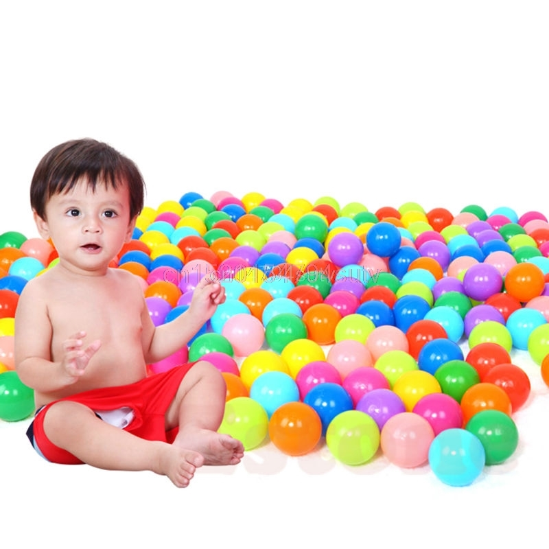 200pcs Eco-Friendly Colorful Ball Soft Plastic Ocean Ball Funny Baby Kid Swim Pit Toy Water Pool Ocean Wave Ball #H055#