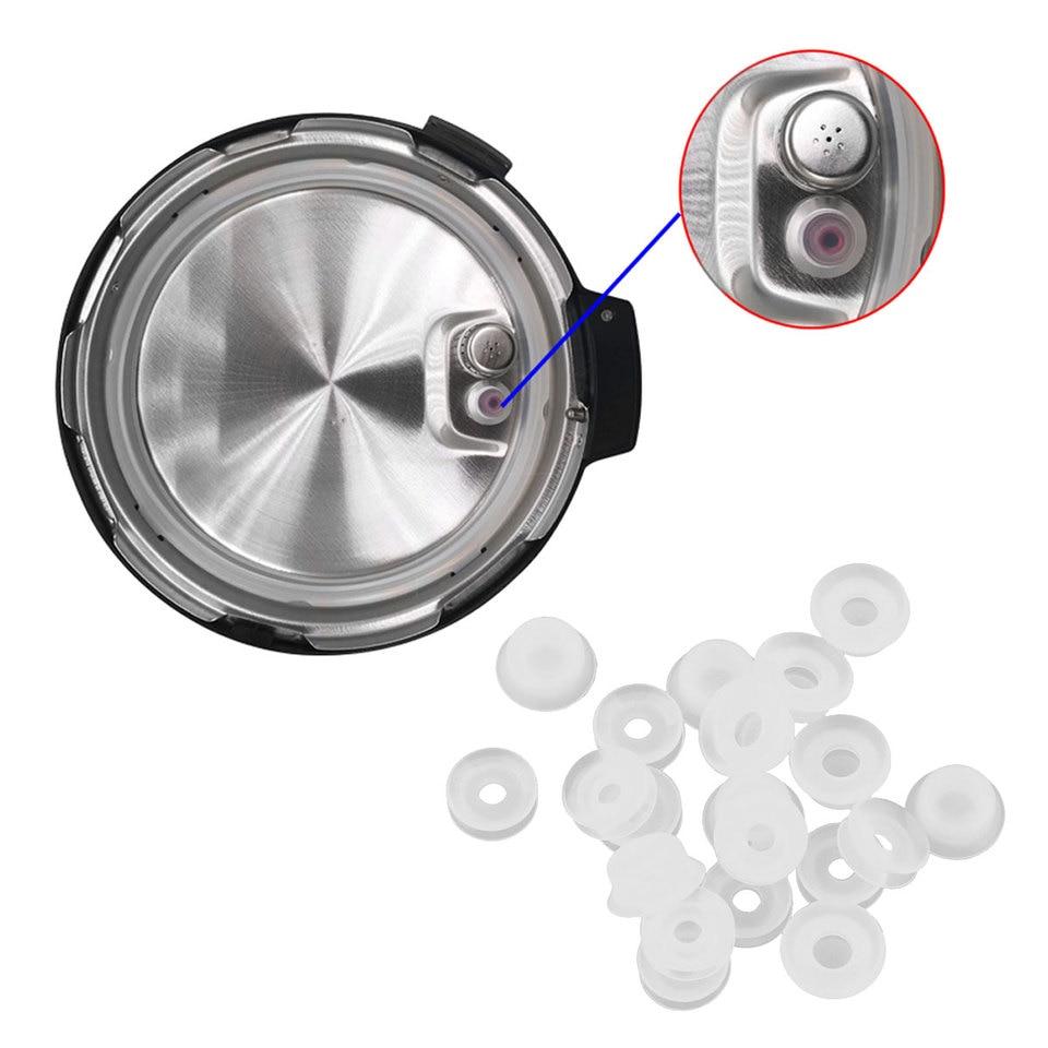 10Pc Electrical Power Pressure Cooker Seal Gasket Rings Valve Parts Float Sealer