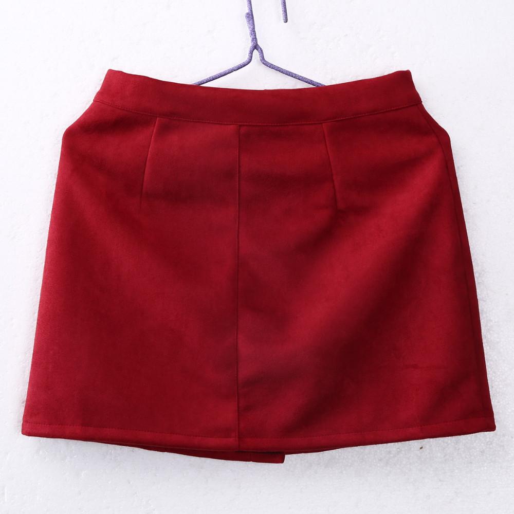 HTB1Wj.7OVXXXXX1XVXXq6xXFXXXq - FREE SHIPPING Fashion Women High Waist Suede Skirts JKP348