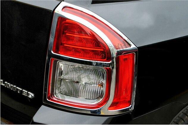 Rear tail light lamp cover trim 2pcs for Jeep compass 2011 2012 2013 2014 2015 citall rear spare tire cover tail bumper light fog lamp for mitsubishi pajero shogun 2007 2009 2010 2011 2012 2013 2014 2015