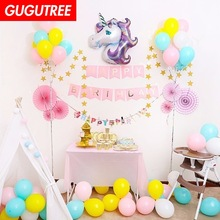 unicorn balloons for party Decoration, foil Banners Paper flowers tassels Streamers decoration PD-78
