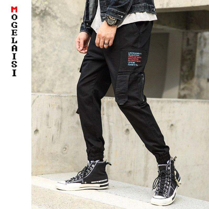 100% QualitäT Mens Casual Cargo Hosen 2019 Frühling Streetwear High Street Jogger Männer Hip Hop Hosen Casual Stickerei Tasche Hosen Am9011xk Seien Sie Im Design Neu