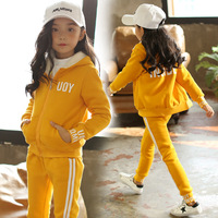 2018 Spring Girls Clothing Set Children Tracksuits For Girls Clothes Casual Kids Sport Suits