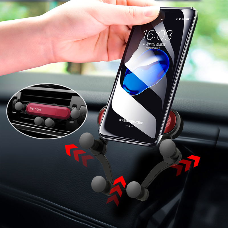 Universal Car Mobile Phone Gravity Bracket Outlet Clip Phone Holder 360 Degree Rotation Socket  Accessories Stand-in GPS Stand from Automobiles & Motorcycles