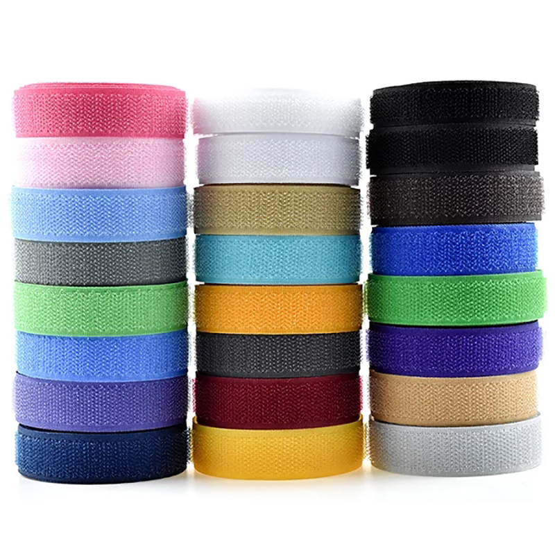 Magic Tape NO Self Adhesive Fastener Tape Velcros Cable Tie  Nylon Hook Loop Fastener Klittenband Sweing Clothes No Glue 2cm*1M
