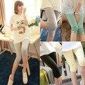 Модальные капри для беременных брюки для беременных лето тонкий беременным леггинсы капри для беременных свободного покроя одежда для беременных