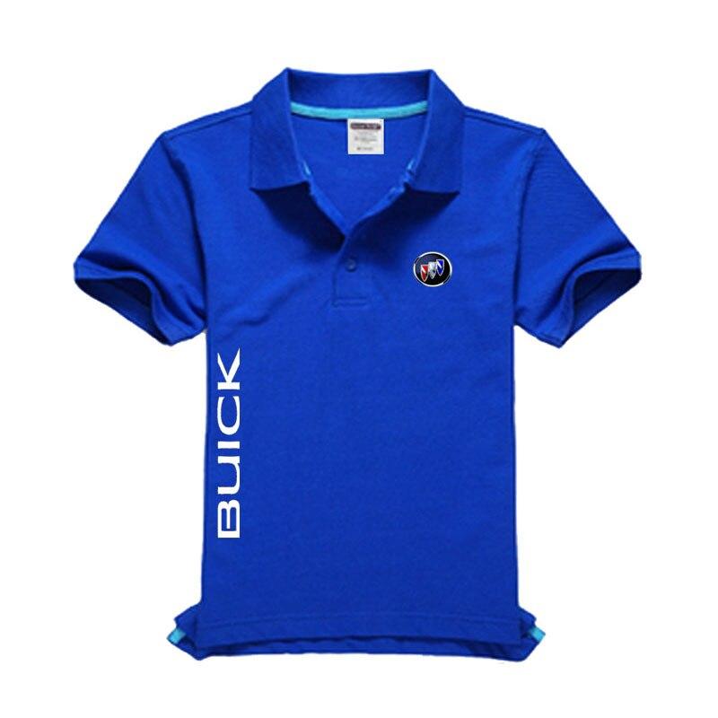 New Buick logo Men's   Polo   Shirt High Quality Men Cotton Short Sleeve shirt Brands jerseys