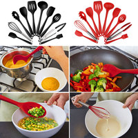 Cooking Tools Accessories Silicone Nonstick Cookware Set Kitchen Cooking Spoon Spatula Egg Stirrer Cutlery Supplies Kitchen Tool