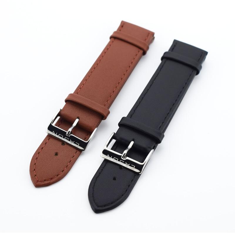New Watch Accessories Watch Bracelet Belt Soft Genuine Leather Watch Band Thin Watch Strap 20mm Watchbands amumu guitar strap sbr memory foam plus rubber band belt with genuine leather ends 110 130cm s529