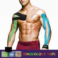 Deportes cinta de kinesiología importa Kinesio Tape rollo de algodón Strain Injury apoyo músculo pegatinas adhesivo elástico músculo vendaje