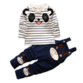 New Spring Cotton Baby Boy Set Baby Boy Sports Suit Unisex Cartoon Bear Clothes BS-207 2017 Autumn Children's Sets