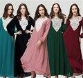 Tradicional mulheres abaya muçulmano vestido islâmico para as mulheres dubai kaftan islâmico