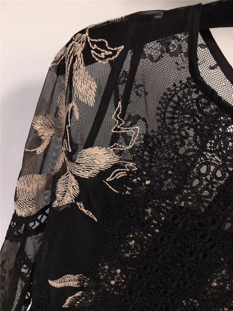 Nouveau Printemps 2019 De Robes Femmes Fomolayime Broderie Robe wxZgaqn