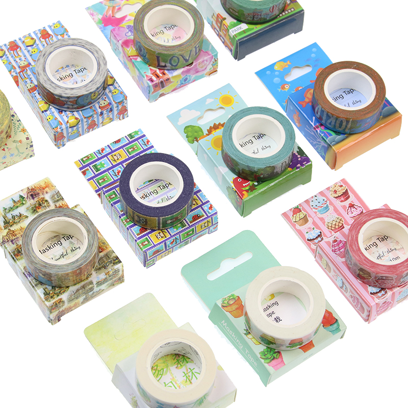 Cute Kawaii Plants Flowers Japanese Masking Washi Tape Decorative Adhesive Tape Decora Diy Scrapbooking Sticker Label Tools