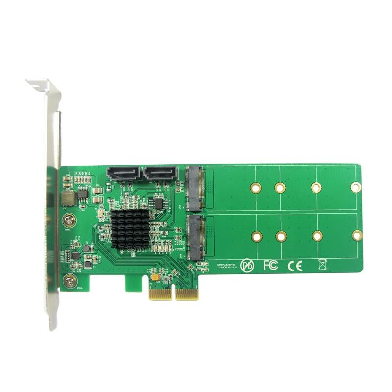 Image 2 - PCIe to 2x M.2 NGFF SSD   2x SATA3.0 Hardware RAID Card RAID 0 1 10 and HyperDuoraid cardraid 0pcie to pcie