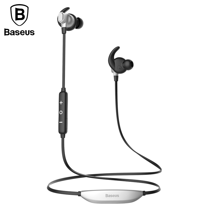 Baseus Brand Wireless Bluetooth Earphone For iPhone 7 Samsung S8 Call info Vibration Reminder Sport Running Music In Ear Headset baseus magnetic bluetooth earphone for iphone 7 samsung s8 wireless sport running stereo in ear earbuds headset mp3 mp4 earpiece