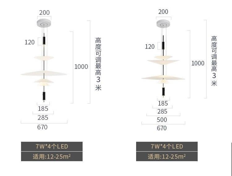 HTB1Wj0TefWG3KVjSZFPq6xaiXXaP - Modern Acrylic LED Pendant Light Shadow Dining Room Kitchen Light Designer Hanging Lamps Indoor Lighting