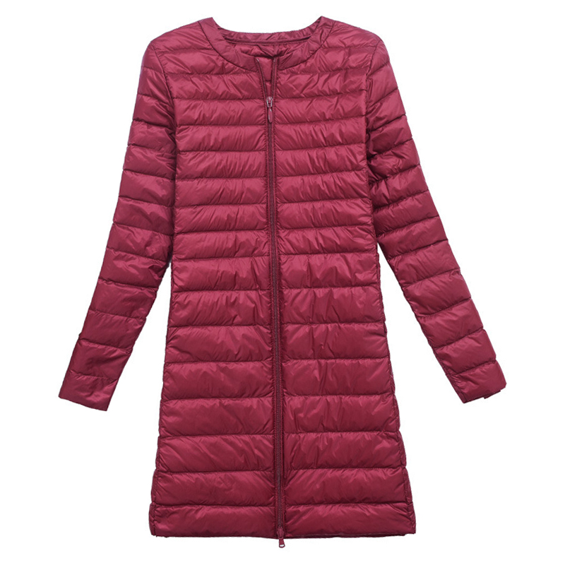 Women Winter   Coat   2019 New Ultra Light 90% White Duck   Down   Jackets Slim Portable Female Long Puffer   Down     Coats   Outerwear