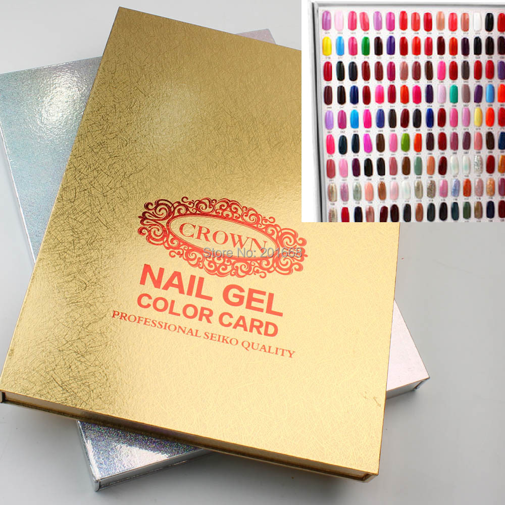 Golden Silver Crown 216 Colors Professional Nail Gel Polish Display ...