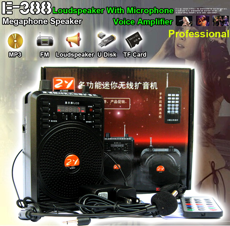 Loudspeaker With Microphone font b Amplifier b font Voice Booster Speaker For MP3 Teaching Tour Guide