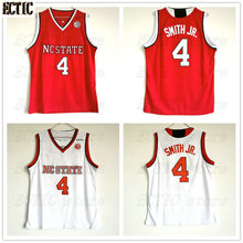 18 ECTIC Dennis Smith Jr. Movie 4 NC State College Basketball Jersey All  White 100% 480dba770