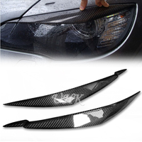 UHK 1 Pair Carbon Fiber Head Light Eyebrow Accessories For BMW X6 E71 Headlamp Eyelid Trim Stickers Decoration