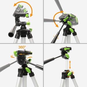 "Image 3 - Huepar אלומיניום נייד מתכוונן חצובה עבור לייזר רמת מצלמה עם 3 דרך גמיש פאן ראש בועת רמת 1/4 "" 20 בורג הר"