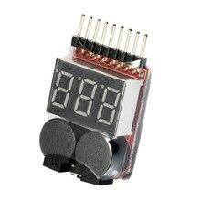 1-8 s 2 In 1 Lipo Li-Ion Fe RC Boot Batterie Tester Adapter FÜHRTE Niederspannungs Summer Alarm power Display Adapter Test Werkzeuge