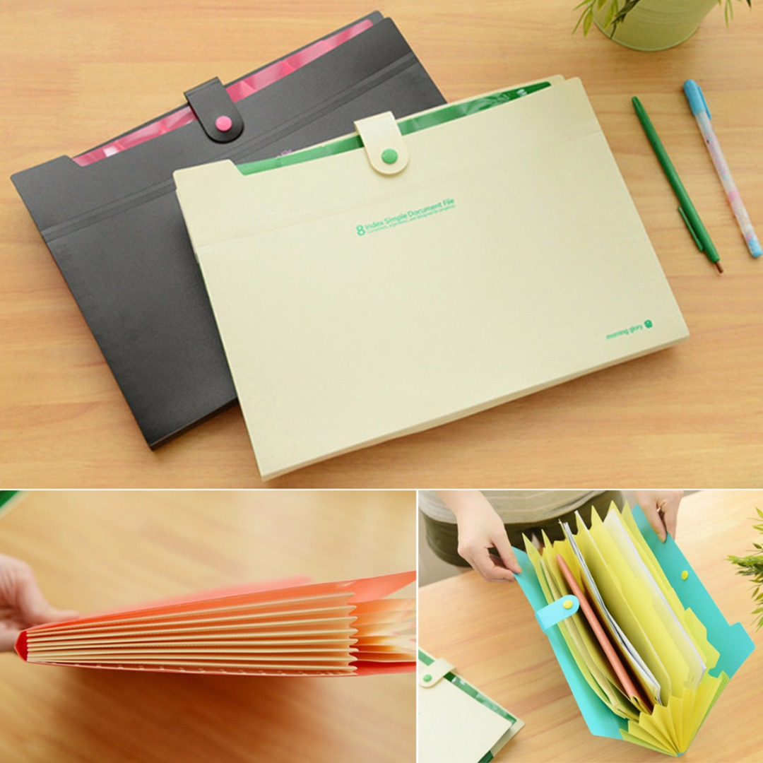 1pc A4 Plastic Paper File Folder Cover Holder Document Office Supplies Portfolio