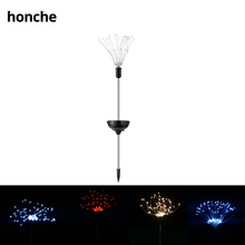 Landscape lights solar powered starburst copper 120 LED fireworks lighting LEDS dandelion outdoor garden string light