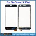 """Высокое Качество 5.0 """"для Fly Cirrus 2 FS504 FS 504 Сенсорным Экраном Дигитайзер Передняя Стеклянная Панель Датчик Черный Белый Цвет Бесплатная Доставка"""