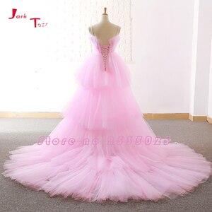 Image 4 - Jark Tozr Custom Made High Low Prom Dresses Vestido De Festa  China Pink Formal Gowns Ballkleider