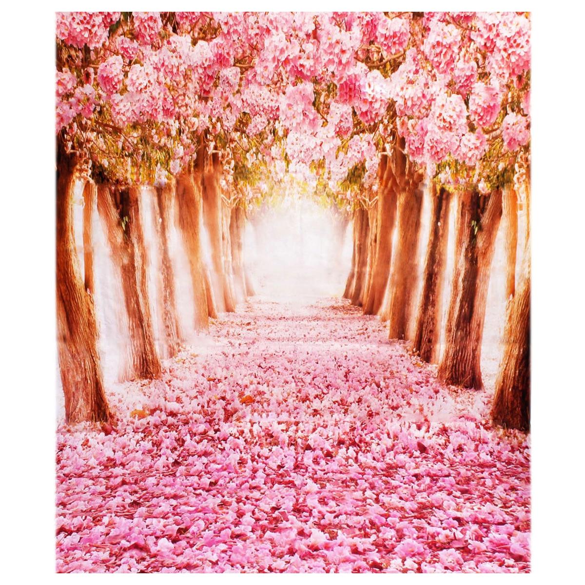 EDT-2*1.5m Fantastic Pink Flower Street Studio Photography Props Backdrop Background cigar m edt
