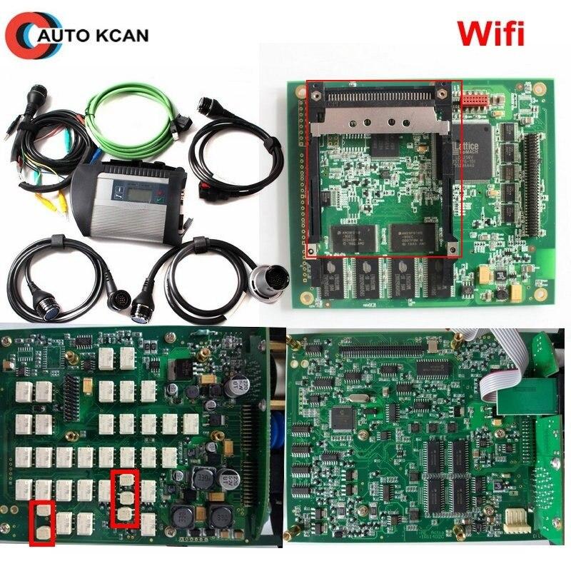 Best Qualità e Prezzo di Fabbrica Pieno di Chip PCB DEVIAZIONE STANDARD di MB C4 Star Diagnosi con WIFI per Le Automobili e Camion autobus 12 V e 24 V