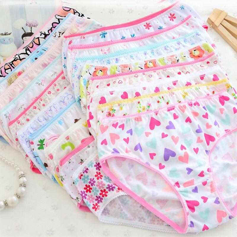 6pcs Baby Girls Underpants Hot Sale Children Kids Girl Soft Cotton Panties 2017 New Bebes Child Girl Print Underwear Short Pants