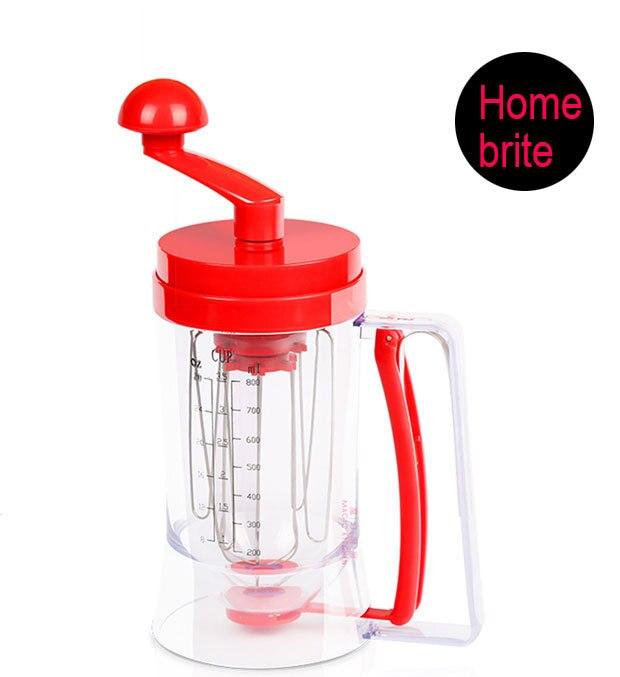 Manual Pancake Machine Cupcake Funnel Batter Dispenser Cream Separator Tool Egg beater Mixer Blender For Waffles