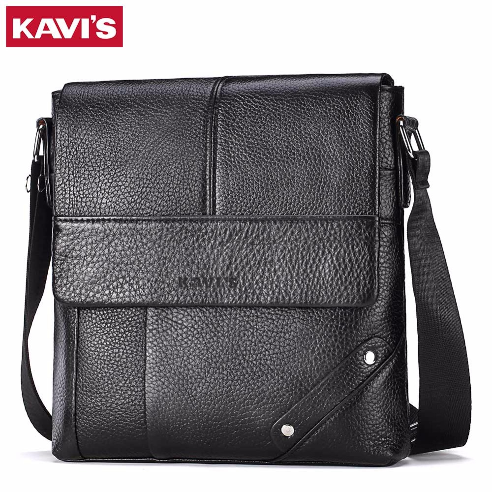 KAVIS Messenger Bag Men Genuine Leather Shoulder Crossbody Handbag Bolsas Sac Sling Chest For Briefcase Male Small and Designer