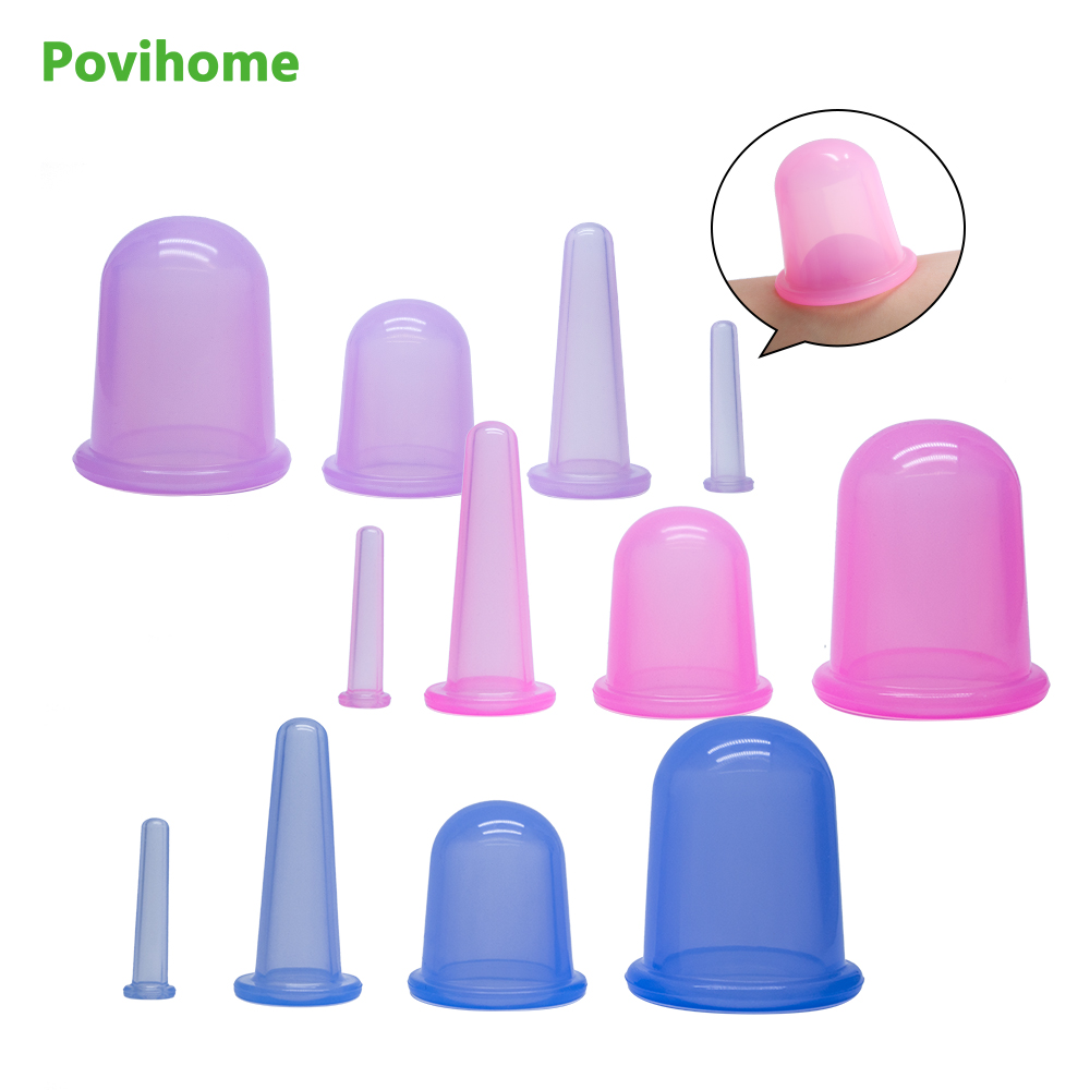 4pcs Body Massage Medical Vacuum Cupping Suction Pump Suction Therapy Device Set Herapy Kit Silicone Cupping Cup Health Care body massage suction silicone cup set travel medical vacuum cupping cups chinese traditional therapy device kit size xl l m s