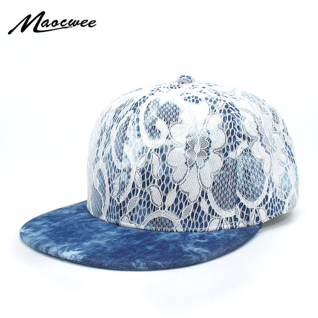 5adbced2a2e Summer Women s Lace Floral Pattern Baseball Caps Casual Breathable Mesh Hats  for Girls Fashion Female Blue Embroidery Flower Cap