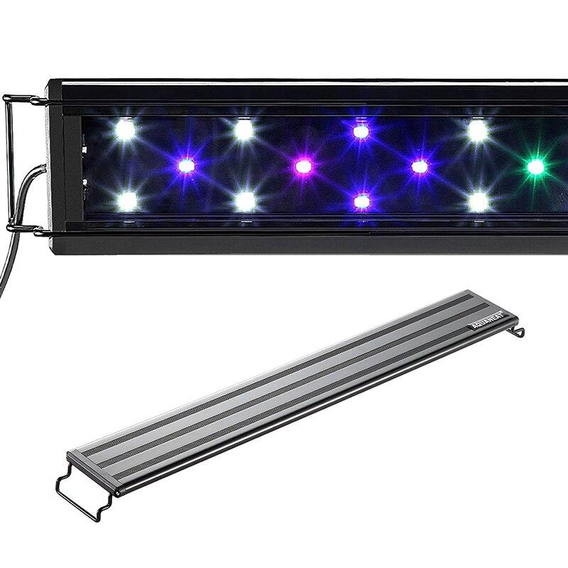 100-240V 30-45/45-55/60-80/90-100/120-140cm Aquarium 4 Color LED Lighting Fish Tank Light Lamp With Extendable Brackets
