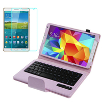1x Screen Protector Detachable Wireless Bluetooth Keyboard Leather Stand Case Cover For Samsung Galaxy Tab S