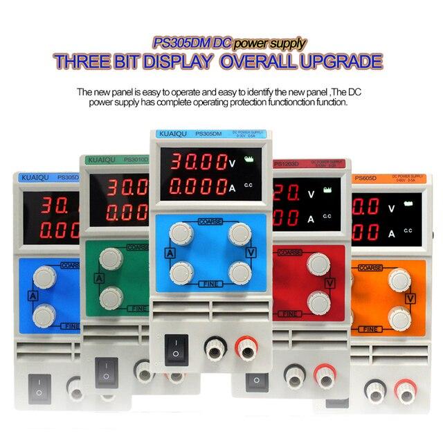 2019 Laboratory power supply PS605DM 60V 5A Single phase adjustable SMPS Digital voltage regulator 0.1V 0.01A DC power supply