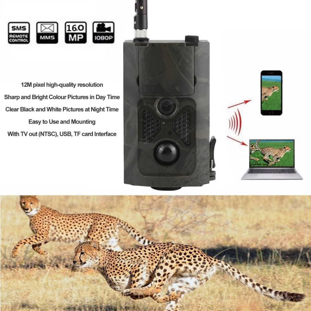 Top Quality HC500M HD GSM MMS GPRS SMS Control Scouting Infrared Trail Hunting Camera skatolly hc500m hd 12mp trail hunting camera gsm mms gprs sms control night vision scouting infrared wildlife hunting camera hwc