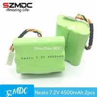 2pcs 7 2V 4500mAh Battery For Neato Battery XV 21 XV 11 XV 14 XV 15