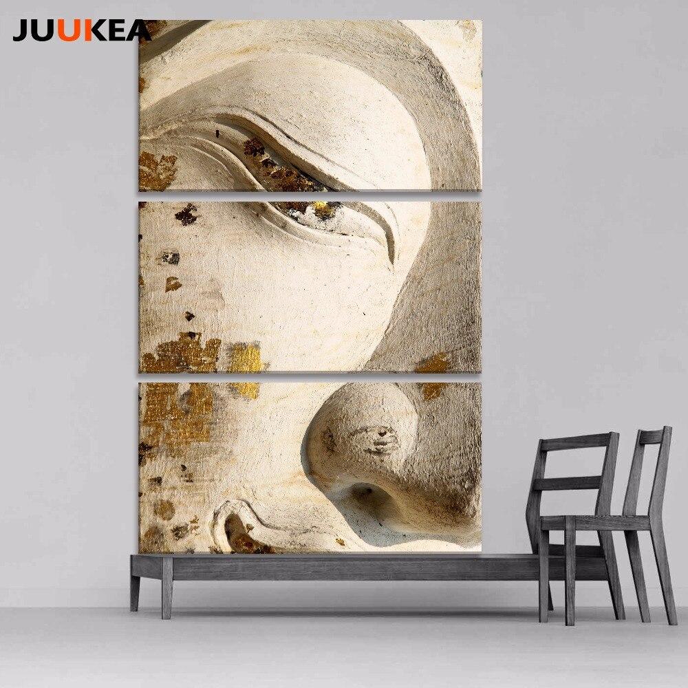 3pcs buddha art canvas painting Wall art abstract buddha meditation ...