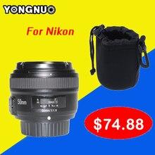 YONGNUO YN 50mm YN50MM Foco Fijo Lente EF 50mm F/1.8 lente de gran apertura de la lente de enfoque automático af para nikon dslr cámara