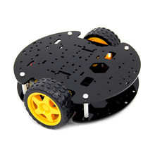 diy electronic KIT Smart car chassis Tracking obstacle avoidance trolley Robot chassis Speed(China)